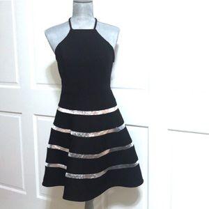 City Studio Dresses - City Studio Fit and Flare Black And Nude Dress
